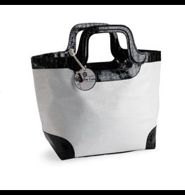 Mud Pie Handbag Tote Bag White Mystic Crock Handle Tote by Mud Pie