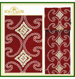 Kurt Adler Ribbon Bows Trim Burgundy Embroidered Sequin 10yrd 2.5w