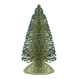 Kurt Adler Glittered Miniature Table Top Christmas Tree 6 inch Green