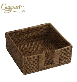 Caspari Rattan Cocktail Napkin Holder