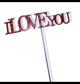 K&K Interiors Floral Picks B6922-E I Love You Pick