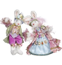 Mark Roberts Fairies Easter Bunnies Mr And Mrs Easter Bunny Set 12 Inch