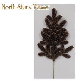 Premier Christmas Floral Spray Glittered Pine Spray 23L