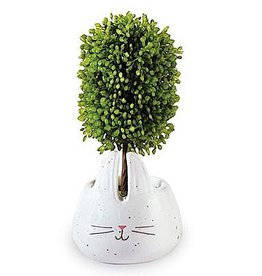 Mud Pie Faux Boxwood Topiary In Mini Bunny Pot W Bunny Face