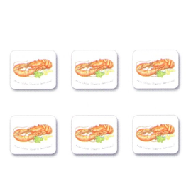Jason Coasters Set of 6 Maine Lobsters