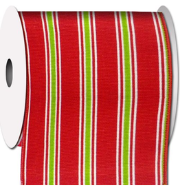 Ribbons Trims 77268M-001 Stripes Red Green