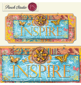 Punch Studio Inspirational Wall Plaque with INSPIRE