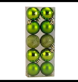 Kurt Adler Christmas Shatterproof Ball Ornament 50MM Set of 10 Green
