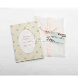 Photo Frame Greeting Card Memories - Ivory Aqua Dot