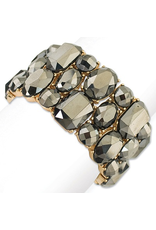 Periwinkle Bracelet Hematite Crystals Bracelets - Stretch