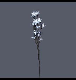 Kurt Adler Led Lighted Flower Branch Cool White LED Lights