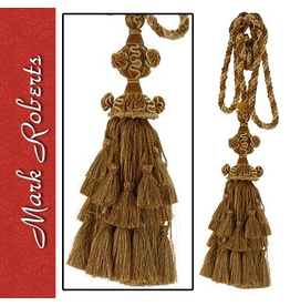 Mark Roberts Stylish Home Decor Grand Gold Tassel Drapery Tie Back