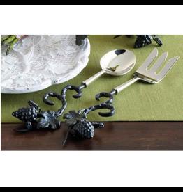 Mud Pie Serving Utensils 151563 Grapevine Serving Spoon And Fork Set