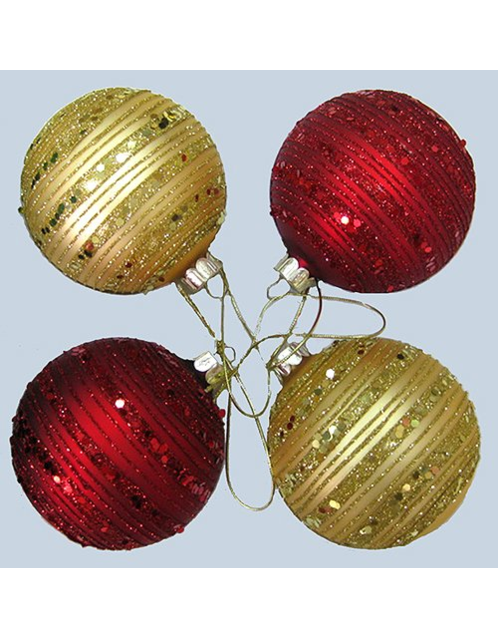 Multi, 0.78-Inch 25 Piece Set Ornaments Kurt Adler Glitter Glass Ball