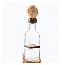 Mud Pie Home Accents Glass Bottle with Natural Shell Top