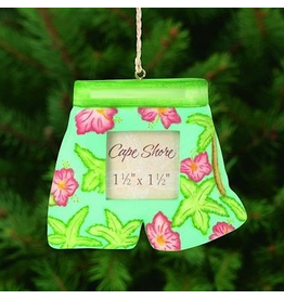 Cape Shore Tropical Swim Trunks Mini Frame Ornament