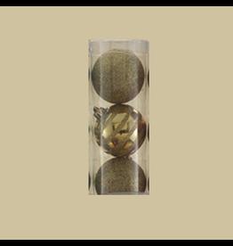 Kurt Adler Christmas Shatterproof Ball Ornament 70MM Set of 7 Gold