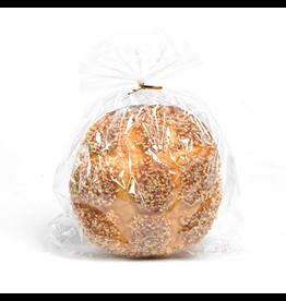 K&K Interiors Fake Display Food 11440J Round Nut Top Bread 7Dia.