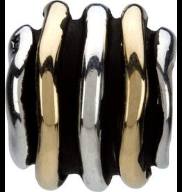 Chamilia Charm Swirls Mixed Silver 14K Bead KD-5 Chamilia
