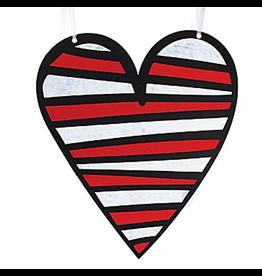 Burton and Burton Love Valentines Decor Hanging Felt Heart Md 9718630-B