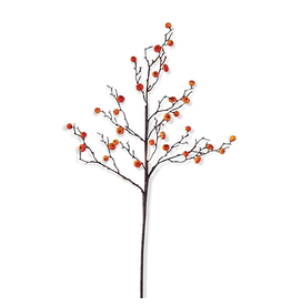 K&K Interiors Fall | Autumn | Flowers Stems 40370A-OR Orange Mini Pumpkin Stem