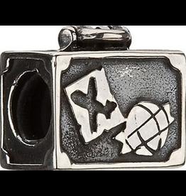 Chamilia Charm Vintage Suitcase Sterling Silver Bead GA-37 Chamilia