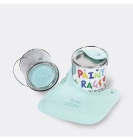Paint Rags Embroidered Baby Bib - Too Cool