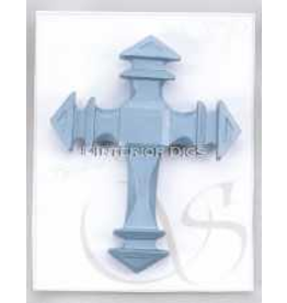 Milestones Cross Lapel Pin on Gift Card by Betty Singer