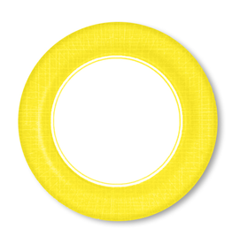 PPD Paper Product Design Paper Plates 88172 Mixx Sun Yellow Dinner Plates