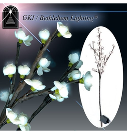 GKI Bethlehem Lighting Flowers Lighted LED Blossom Branch White