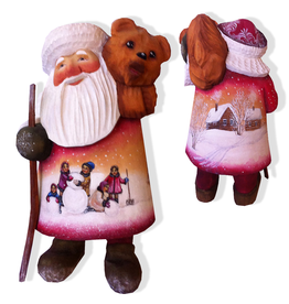 DeBrekht Artistic Studios Carrying Bear Santa Limited Edition