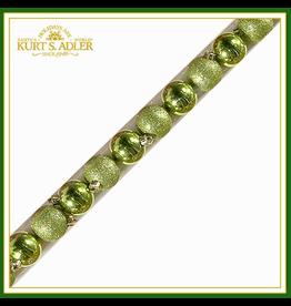 Kurt Adler Shatterproof Ball Ornaments Green 40MM Assorted Set 20