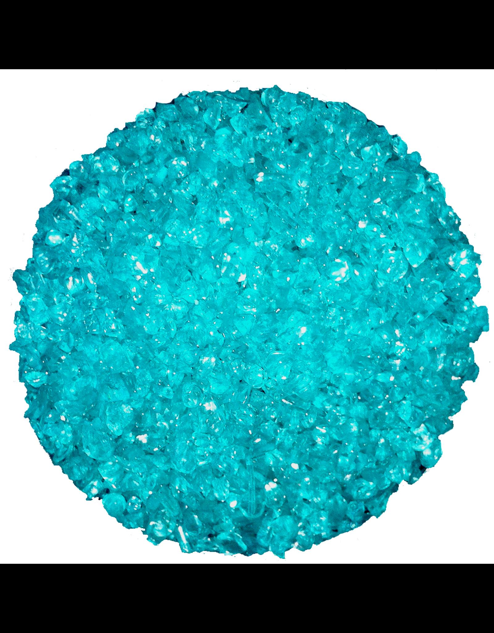 Point a La Ligne Aqua Colored Crushed Glass Marble Filler by Point a La Ligne