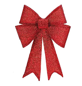 Mark Roberts Christmas Decorations Shimmering Bow Red XLG 23 Inch