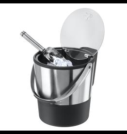 Oggi Double Wall Ice Bucket w Acrylic Lid Stainless Steel Ice Scoop