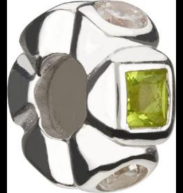 Chamilia Cat Eyes Aquamarine Silver Bead w CZ JB-12D