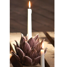 Kalalou Blooming Flower Plant Ceramic Taper Candle Holder 6x7