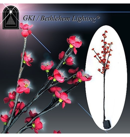 GKI Bethlehem Lighting Flowers Lighted LED Blossom Branch Red