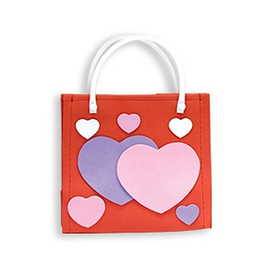 DM Merchandising Valentine's Gift Bag Tote Heart Tote Bag