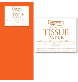 Caspari Gift Tissue Paper 8 Sheets Orange