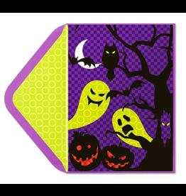 PAPYRUS® Halloween Card Spooky Ghosts Jack-O-Lanterns - Lenticular 3D