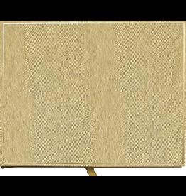 Caspari Guest Book Faux Lizard Skin Cover Platinum 9x7
