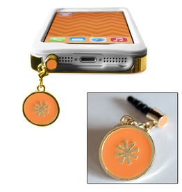 TECH Candy Phone Charms Earphone Jack Jewelry Starburst Gold Orange