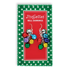DM Merchandising Christmas Jingle Bell Earrings - A
