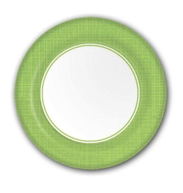 PPD Paper Product Design Paper Plates 88171 Mixx Lime Green Dinner Plates 10 Dia.