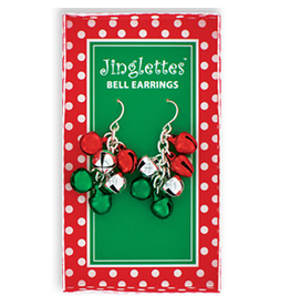 DM Merchandising Christmas Jingle Bell Earrings - B