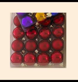Kurt Adler Christmas Ornaments 24 Red Shatterproof Ball Ornaments 30MM