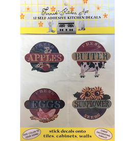 Funmade Kitchen Art 12 Self Adhesive Decals - Country Signs