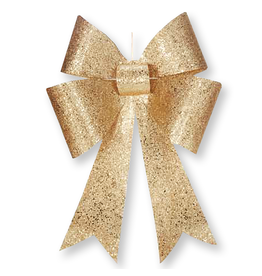 Mark Roberts Christmas Decorations Gold Glittered Bow Large 24 inch