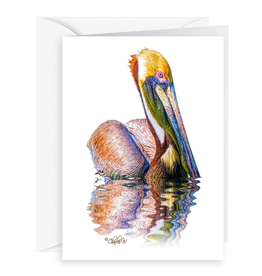 By The Seas-N Greetings Blank Note Card - Cash - Gift Card Holder - Pelican III